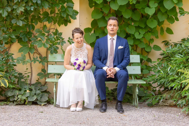 Auch solche skurrilen Hochzeitsfotos macht man als Hochzeitsfotograf