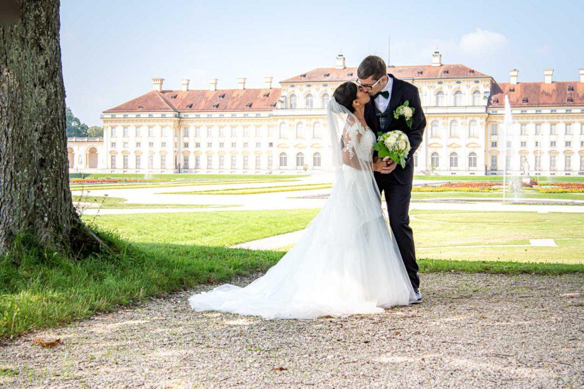 Internationale Hochzeit am Schloss Schleißheim